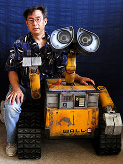 Reproduction de Wall-e avec son auteur Michael Senna